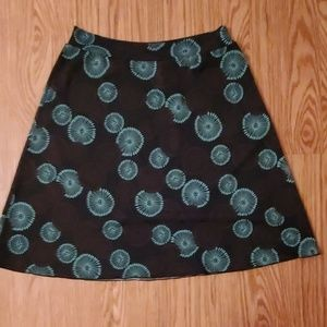 Black with turquoise  designs skirt